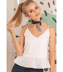 blusa anna bay blanco ragged pf11112130