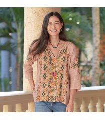 chandra linen blouse