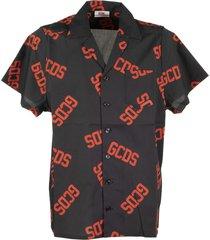 gcds short sleeve shirt with gcds monogram
