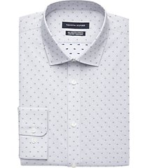 tommy hilfiger blue grey dot slim fit dress shirt