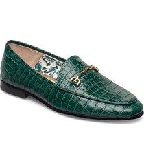 loraine dress croc leather loafers låga skor grön sam edelman