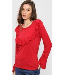 sweater rojo destino collection volados