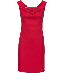 abito a tubino con scollo a barca (rosso) - bodyflirt boutique