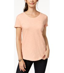 style & co cotton crew-neck t-shirt, created for macy's
