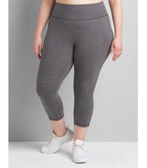 lane bryant women's livi capri power legging 34/36 medium heather grey