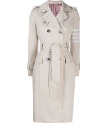 neutral 4-bar trench coat