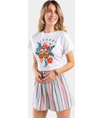 lea stripe paperbag shorts - multi