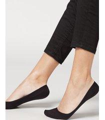 calzedonia women's cotton invisible socks with silicone edge woman black size 34-36