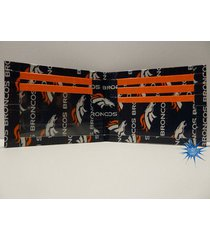 handmade duct tape wallet with denver broncos logo all over it (new design)
