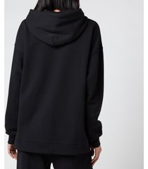 ganni women's software isoli hooded sweatshirt - black - l/xl
