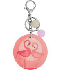 chaveiro com espelho ania store flamingo feminino