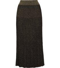 balmain pleated lurex midi skirt