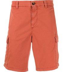 brunello cucinelli knee-length cargo shorts - orange