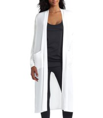 h halston women's open front long sleeves cardigan