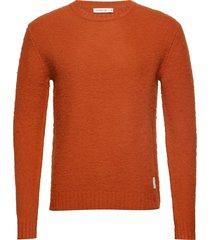 brendan gebreide trui met ronde kraag oranje tiger of sweden jeans