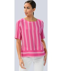 blouse alba moda pink::wit