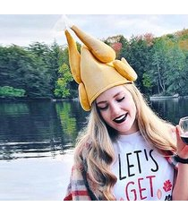 personality turkey hat for christmas