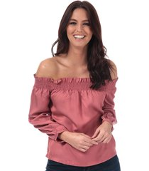 only womens samantha off shoulder top size 6 in pink
