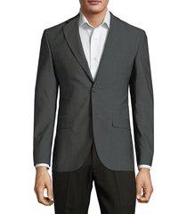 saks fifth avenue men's classic wool jacket - grey - size 36 r