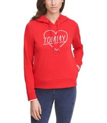 tommy hilfiger sport embroidered heart logo hoodie