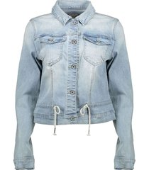 jacket bleached denim