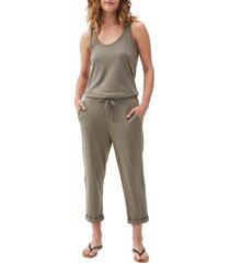 women's michael stars tank style jumpsuit, size x-small - green