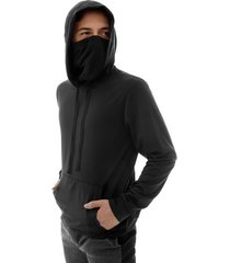 buzo proteccion facial hombre color negro, talla l