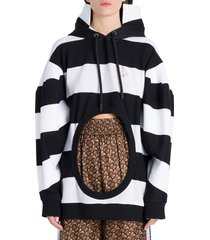 burberry cuto out detailed hoodie