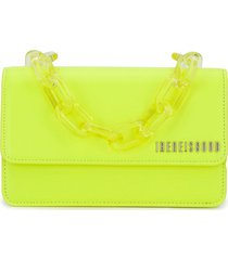 ireneisgood chunky chain clutch bag - yellow