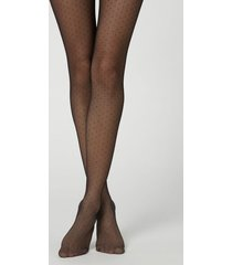 calzedonia glitter polka dot tulle tights woman black size s