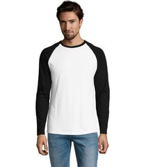 t-shirt lange mouw sols funky lsl blanco negro