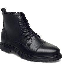 biacarlo leather boot snörade stövlar svart bianco