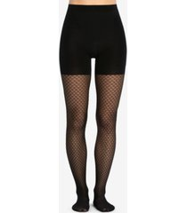 spanx honeycomb fishnet mid-thigh shaping tights