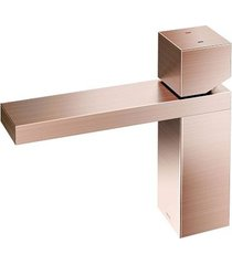 misturador monocomando para banheiro mesa bica baixa mínima cobre escovado - 00919469 - docol - docol