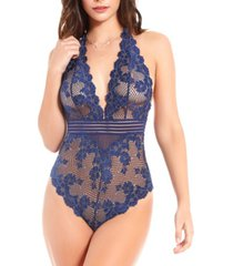 icollection women's chloe lace halter bodysuit, online only