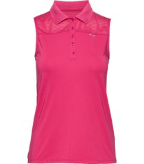 miko sleeveless poloshirt t-shirts & tops polos rosa röhnisch