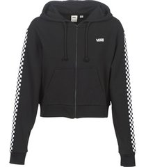 sweater vans funnier times crop zip hoodie