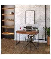 mesa de escritório kuadra 2 gv nogal 120 cm