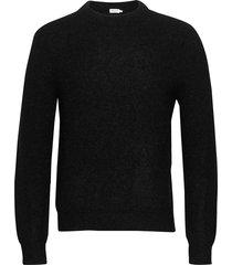 m. julian sweater gebreide trui met ronde kraag zwart filippa k