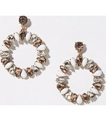 loft blossom statement drop earrings