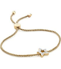 gold alphabet star diamond friendship bracelet - limited edition diamond