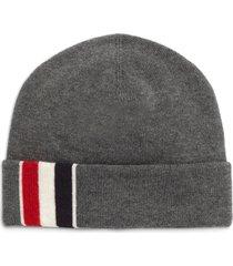 thom browne intarsia stripe merino wool beanie in med grey at nordstrom