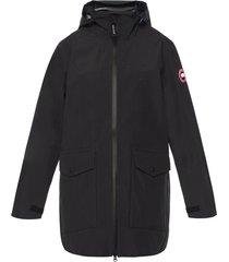 'wolfville' long hooded jacket