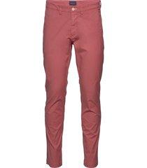 d2. slim sunfaded chino chino broek rood gant