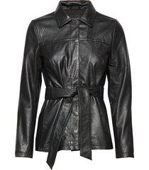 slfnew stella leather jacket b leren jack leren jas zwart selected femme