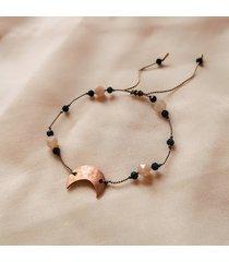 bransoletka z kamieniami księżycowymi i lunulą