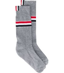 light grey athletic mid-calf socks