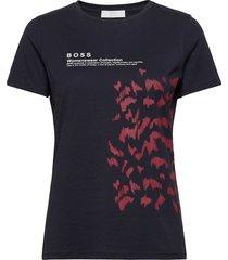 c_eround t-shirts & tops short-sleeved blå boss