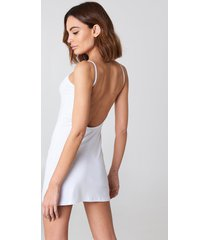 na-kd basic na-kd basic deep back dress - white