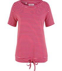 maglia a righe a mezze maniche (rosso) - john baner jeanswear